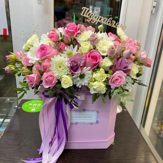 Розы и хризантемы