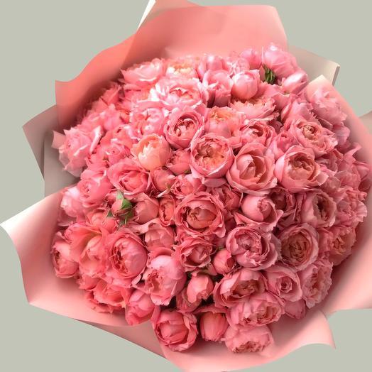 Объемный букет роз Джульетта