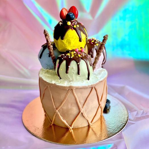 Торт «вафельный стаканчик с мороженного»
