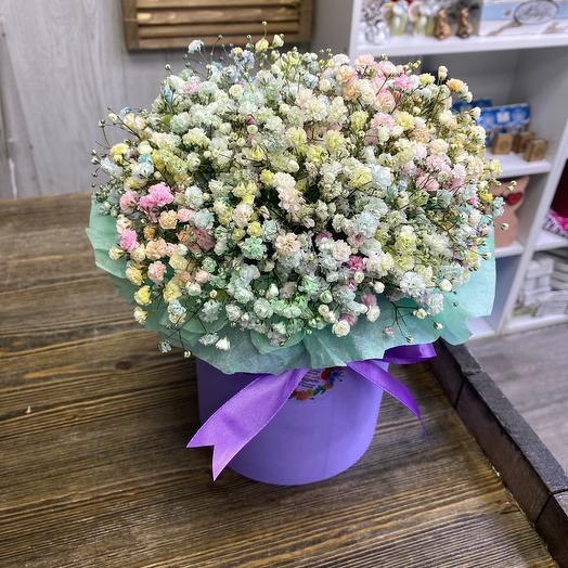 Cylinder rainbow baby's breath