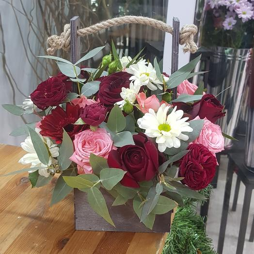"""Цветы в коробке ^Бархат"""""""
