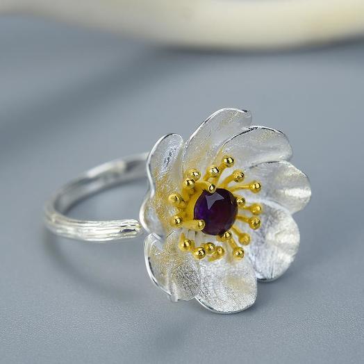 Кольцо Цветок Анемона