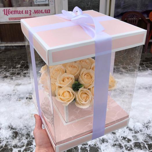 Аквариум с мыльными розами