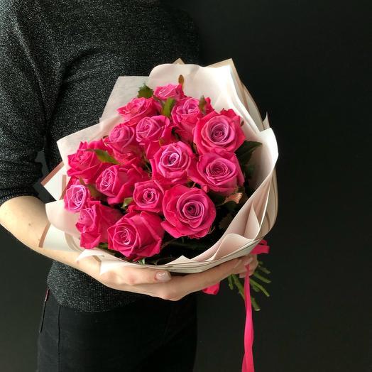 FlowersLab -15 малиновых роз