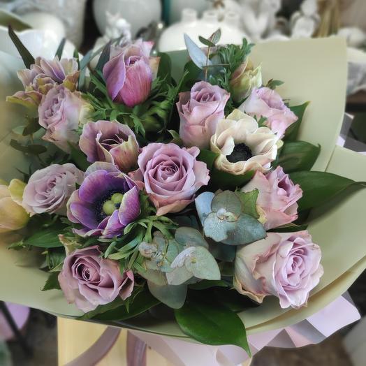 Букет цветов Сиреневый туман