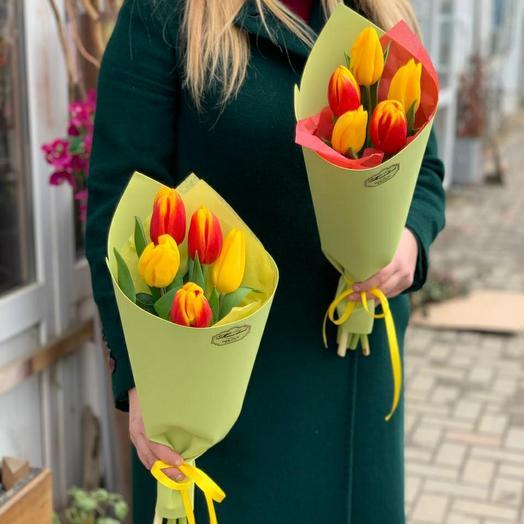 Букетик из 5 тюльпанов