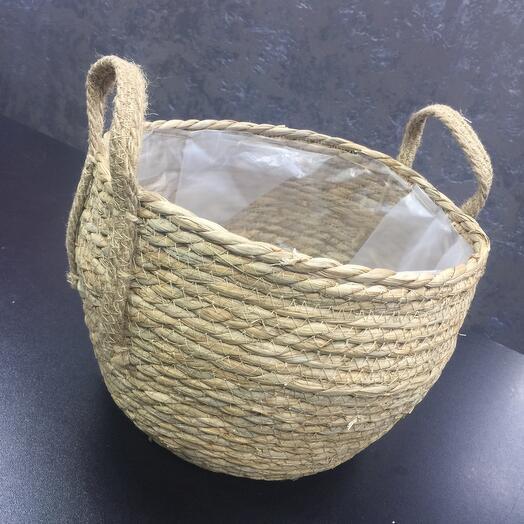 Плетеный Бочонок из натуральных материалов