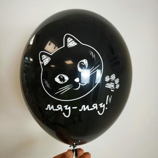 """Воздушный шар с гелием """"Котики"""""""