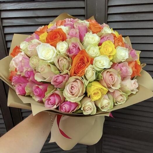 101 роза 40см
