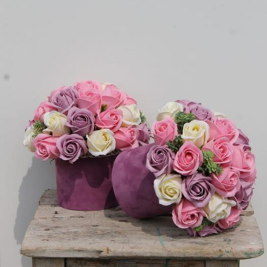 Розы в коробке \29шт