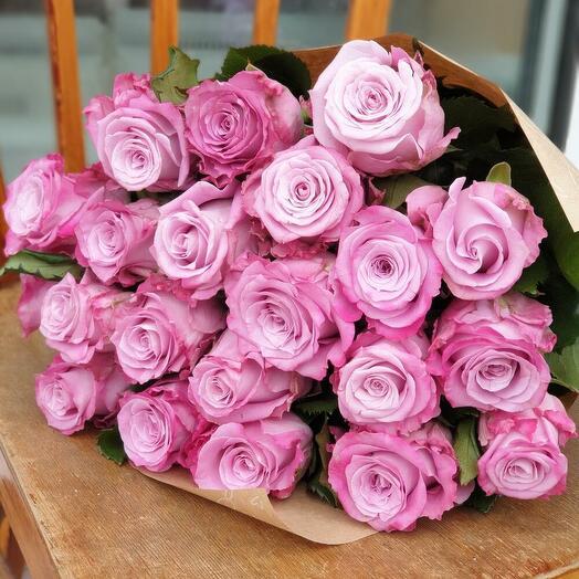Букет из 21 сиреневой розы Маритим