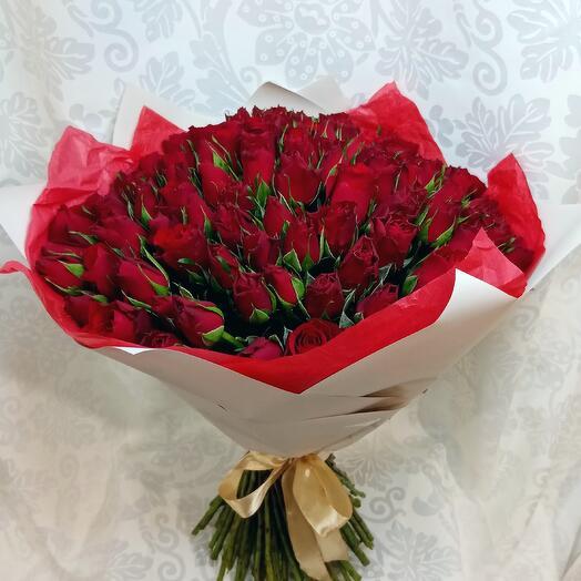Букет из 101 розы красной