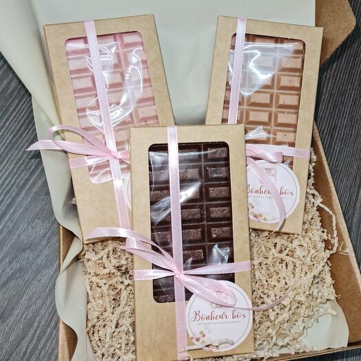 Подарочный бокс 3 шоколада