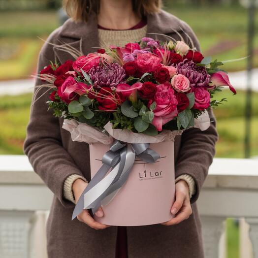 Букет хризантема, калла, роза 66