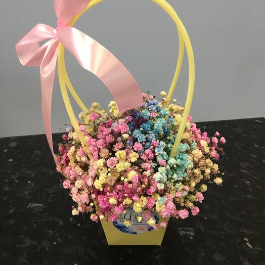 Цветы в коробке Радуга