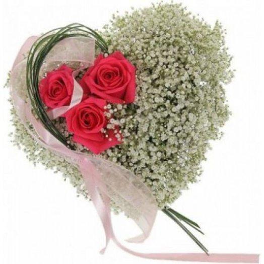 БЦ-160204 Парящее сердце: букеты цветов на заказ Flowwow