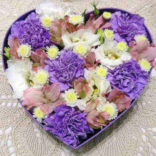 Сердце в коробочке 7: букеты цветов на заказ Flowwow
