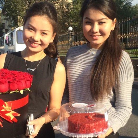 коробка Maison Des F eurs из 45 красных роз