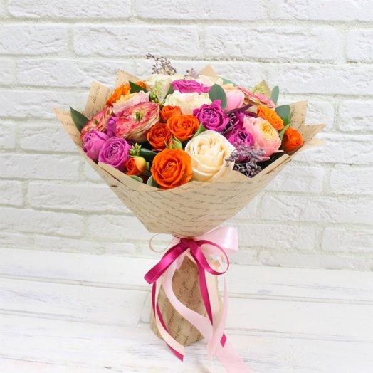 Ассорти из роз: букеты цветов на заказ Flowwow