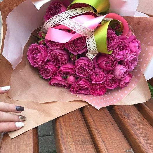 Нежные пионовидные розы: букеты цветов на заказ Flowwow