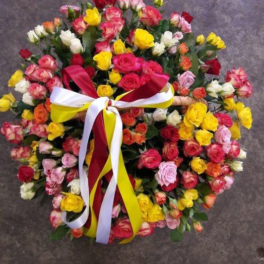Микс кустовой розы: букеты цветов на заказ Flowwow