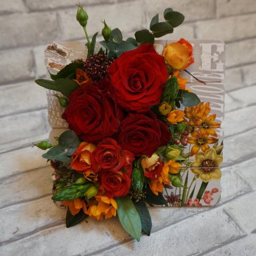 Цветочная рамка : букеты цветов на заказ Flowwow