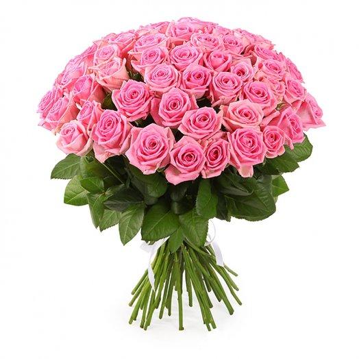 Букет из 41 розовой розы: букеты цветов на заказ Flowwow
