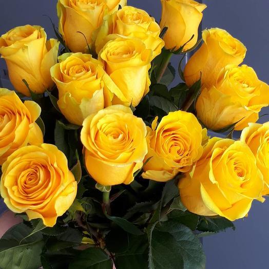 Букет из 15 желтых роз 70 см: букеты цветов на заказ Flowwow