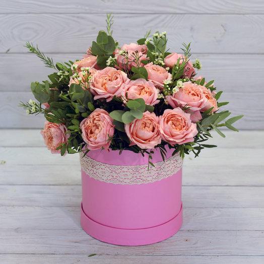 Букет в коробке Верона: букеты цветов на заказ Flowwow