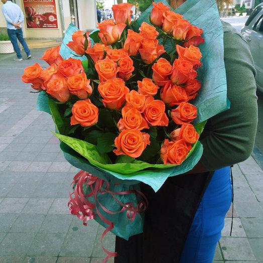 Букет из 35-ти оранжевых роз