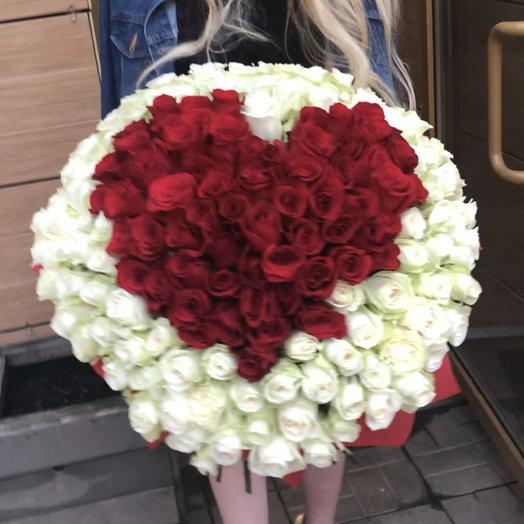 """Большой букет из роз сердце """"Мечта"""""""