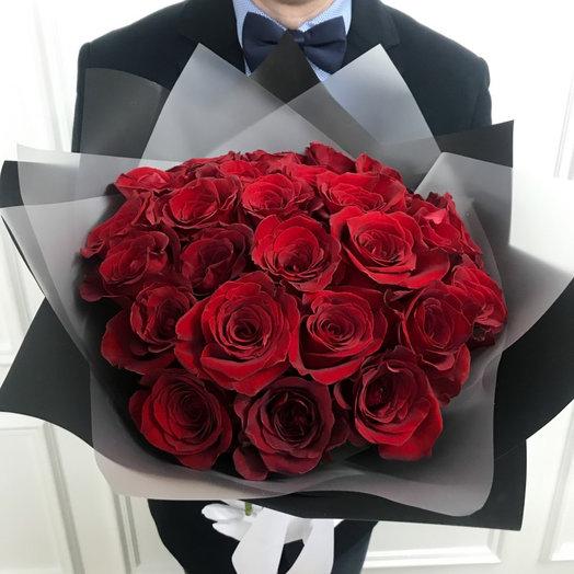 Классический букет из 21 эквадорской розы
