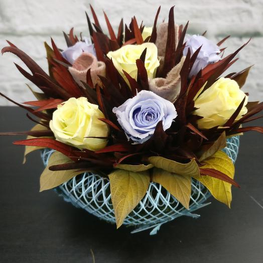 Стабилизированная композиция: букеты цветов на заказ Flowwow