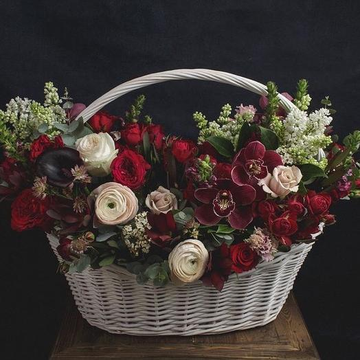 Немного бургонского: букеты цветов на заказ Flowwow