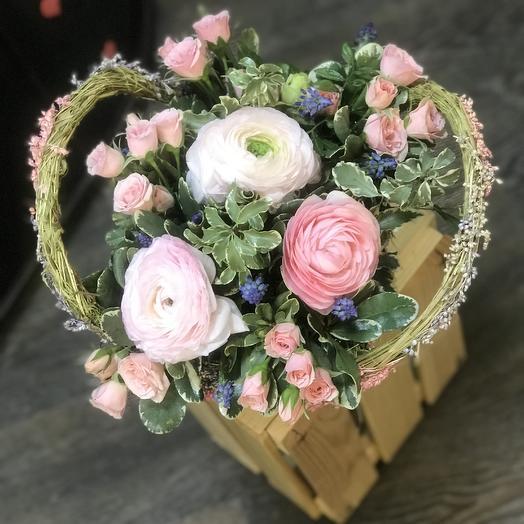 Корзина Нежности: букеты цветов на заказ Flowwow