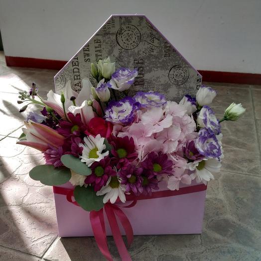 """Цветочный конвертик """"Признание"""": букеты цветов на заказ Flowwow"""