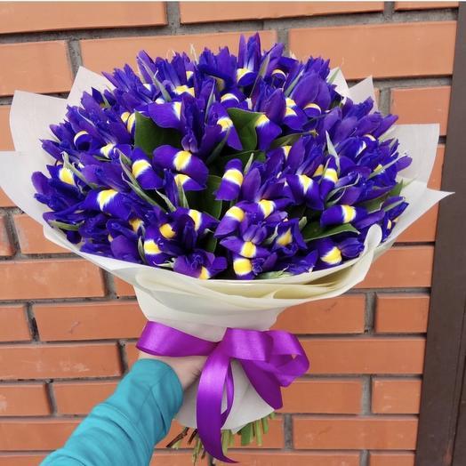 Небесные ирисы: букеты цветов на заказ Flowwow