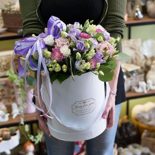 15 миксовых эустом в коробке: букеты цветов на заказ Flowwow