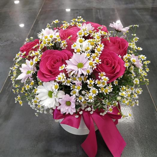 "Шляпная коробка ""Моей любимой""🥰: букеты цветов на заказ Flowwow"