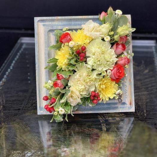 Цветочная рамка «Чикаго»: букеты цветов на заказ Flowwow