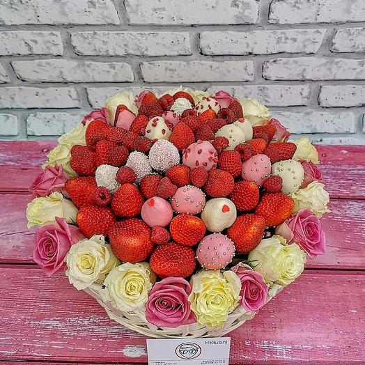 КОРЗИНА L 1: букеты цветов на заказ Flowwow