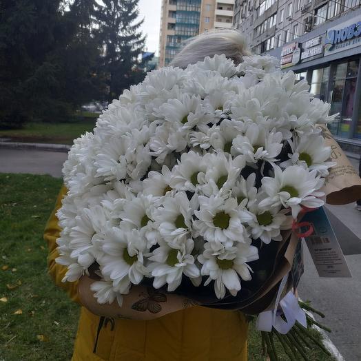 Букет из 21 хризантемы ромашки: букеты цветов на заказ Flowwow