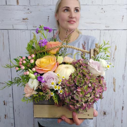 Ящик с тыквой: букеты цветов на заказ Flowwow