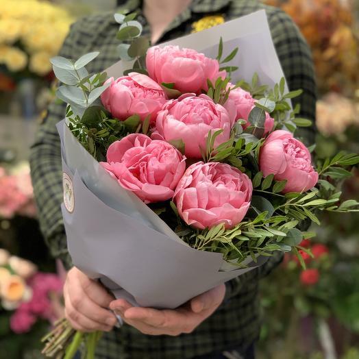 Букет прекрасных пионов: букеты цветов на заказ Flowwow