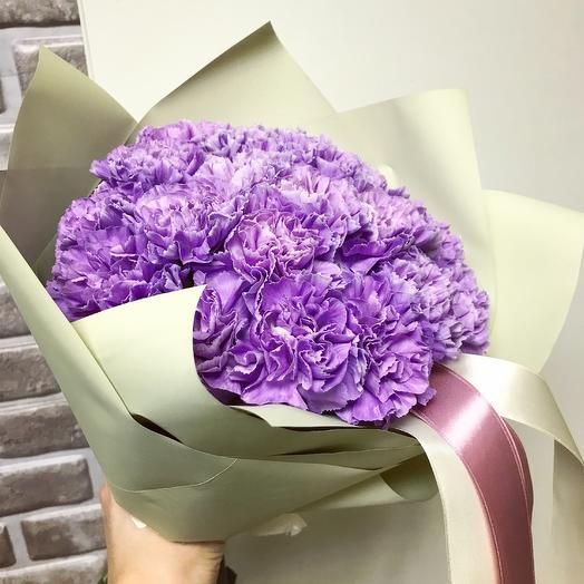 Букет из гвоздики Moon Aqua: букеты цветов на заказ Flowwow