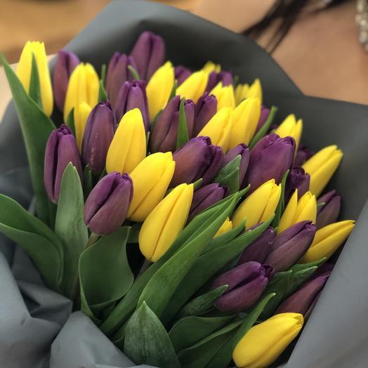 51 тюльпан микс: букеты цветов на заказ Flowwow