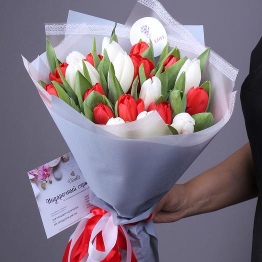 21 тюльпанов микс премиум