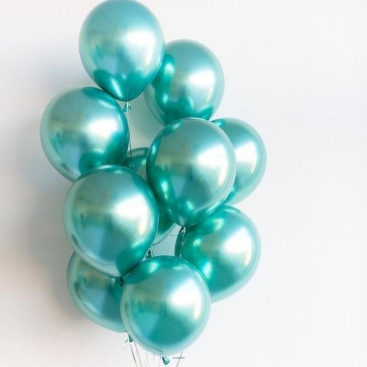 11 helium balloons chrome