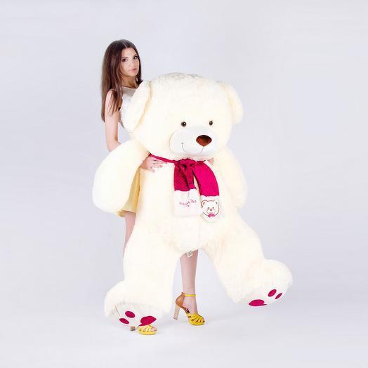 Большой Медведь Кельвин 180 см (молочный)