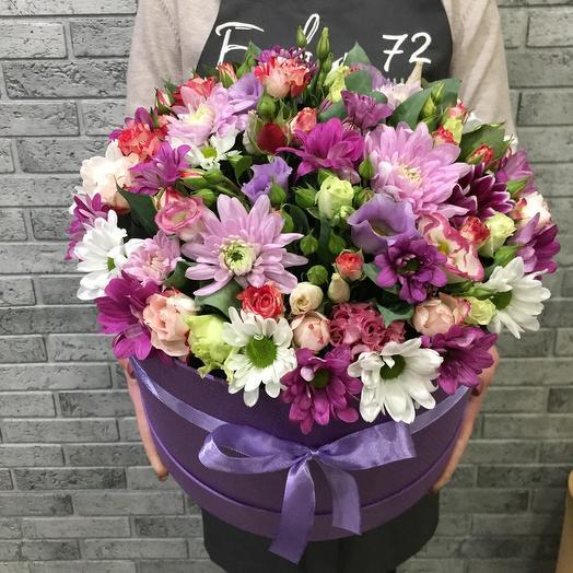 Цветы в коробке 077075